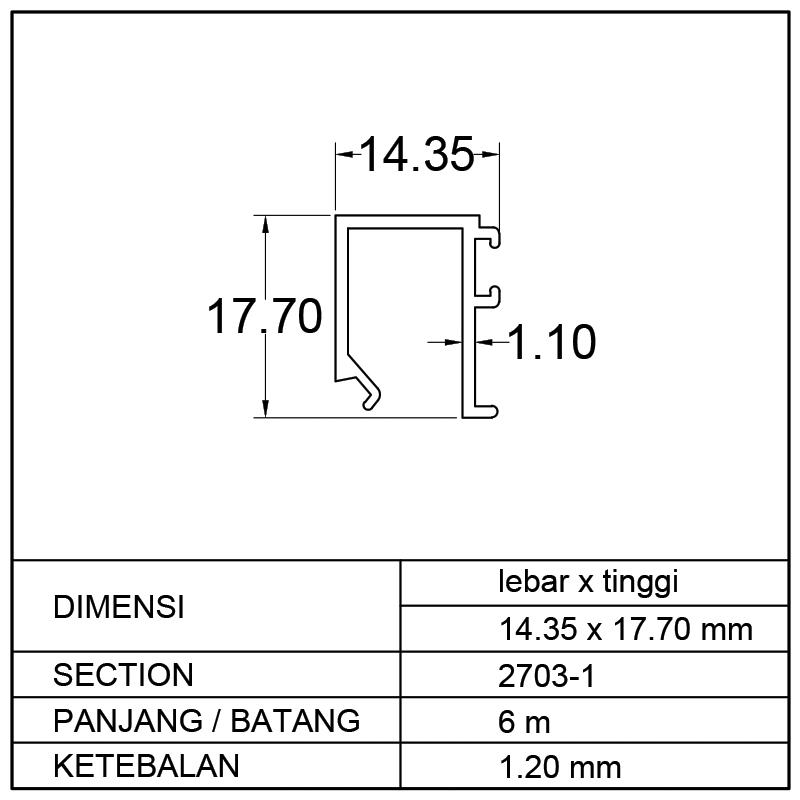 POP SWING (14.35 x 17.70)mm
