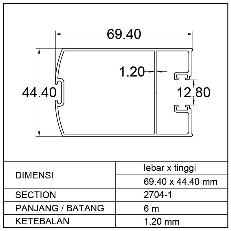 TIANG MOHAIR (69.40 x 44.40)mm