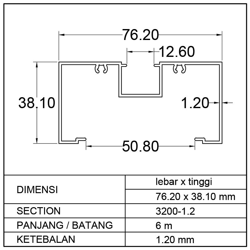 KUSEN M (PB) 76.20 x 38.10