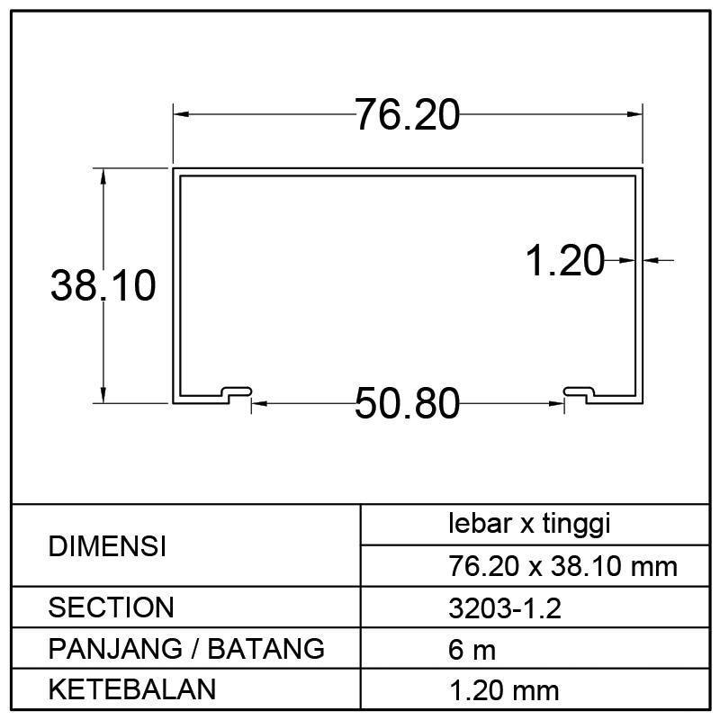 KUSEN C (76.20 x 38.10)mm