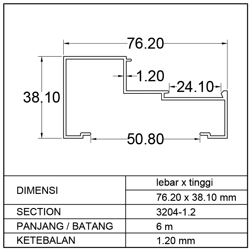 KUSEN 1/2 M (76.20 x 38.10)mm