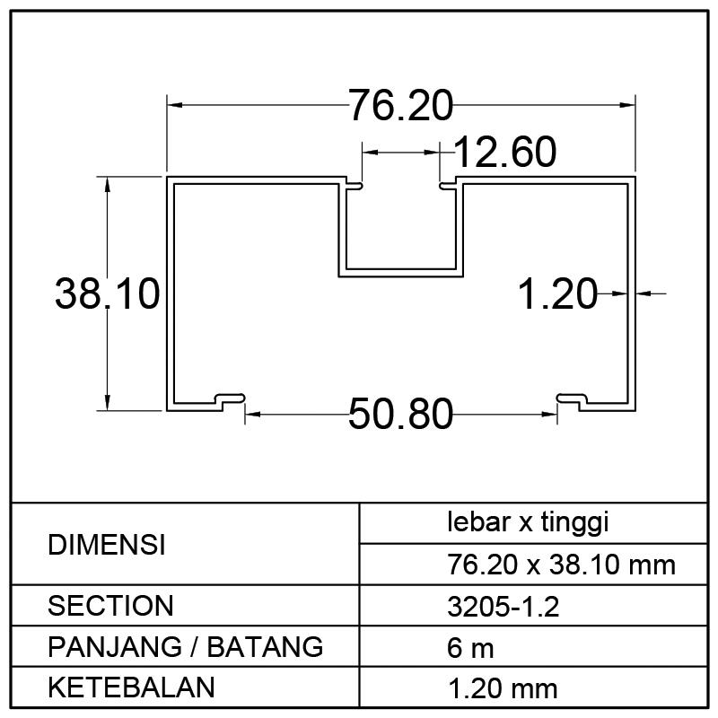 KUSEN M (76.20 x 38.10)