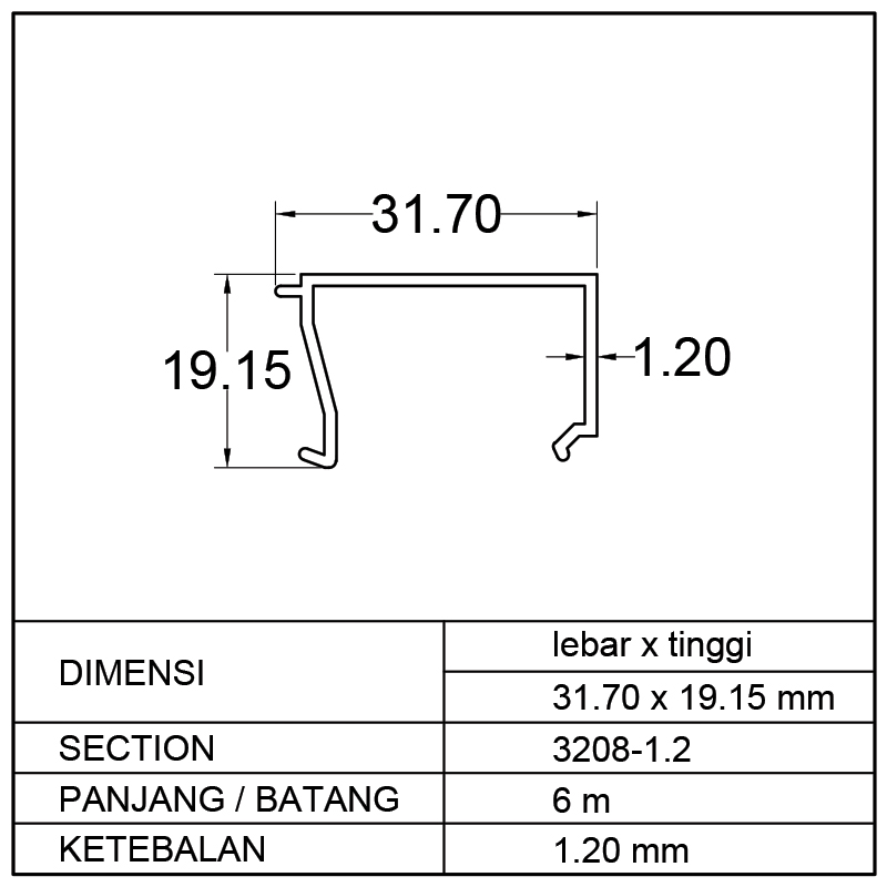 POP 1/2 M (31.70 x 19.15)mm