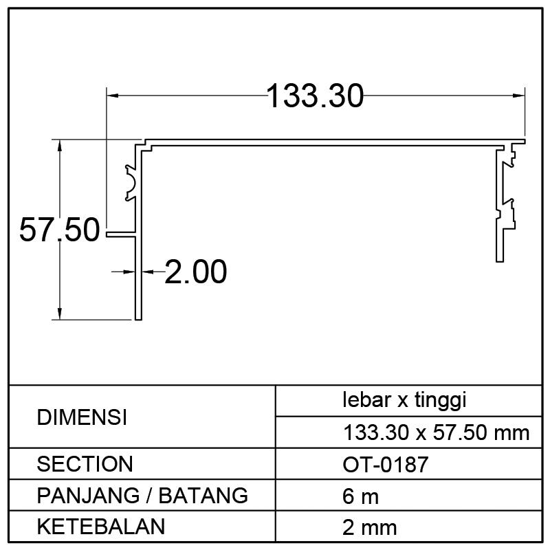 PROFIL BOX MOBIL (133.30 x 57.50)mm
