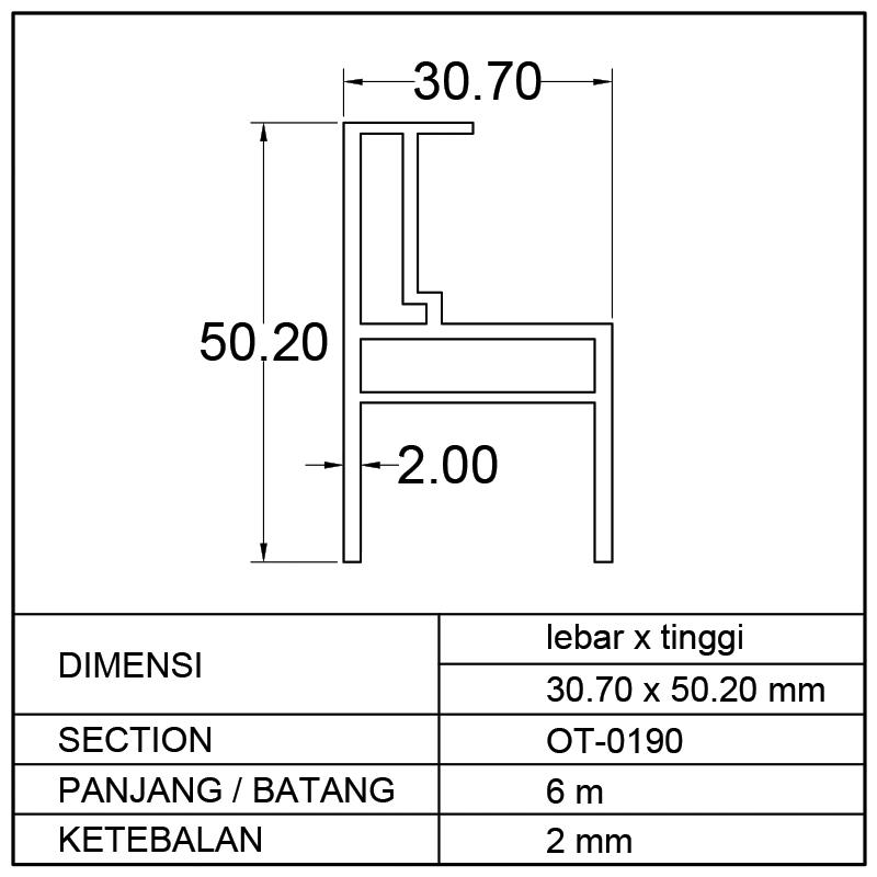 PROFIL BOX MOBIL (30.70 x 50.20)mm