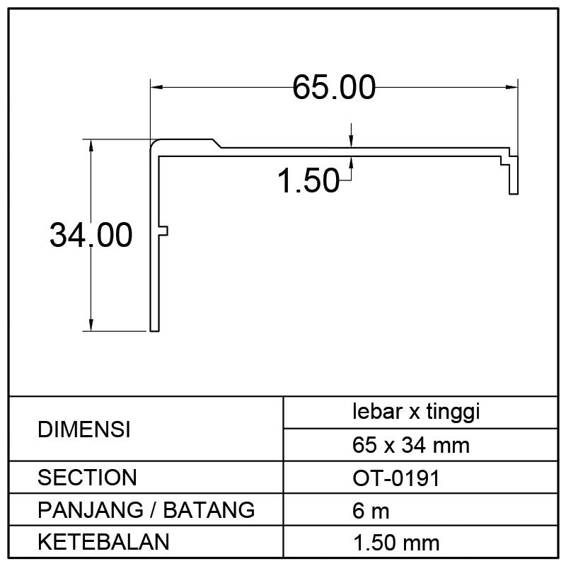 PROFIL BOX MOBIL (65 x 34)mm