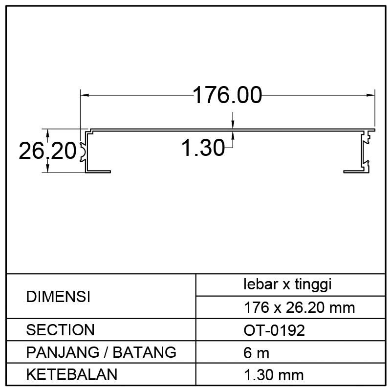 PROFIL BOX MOBIL (176 x 26.20)mm