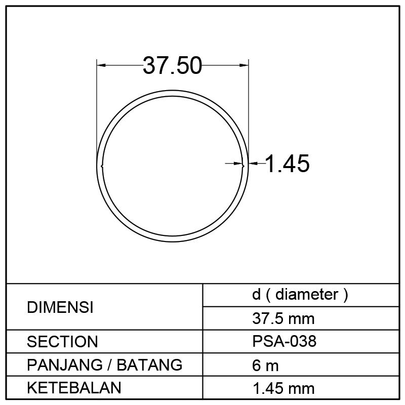 PIPA SAWIT 37.5mm